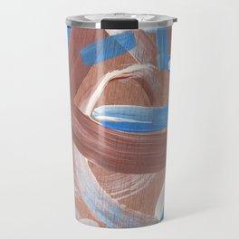 Falling Water Abstract Travel Mug