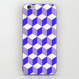 Diamond Repeating Pattern In Nebulas Blue and Grey iPhone Skin