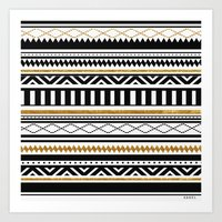 aztec Art Prints featuring Aztec by Kakel