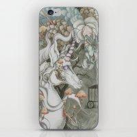 the last unicorn iPhone & iPod Skins featuring The Last Unicorn by Bonnie Johnson