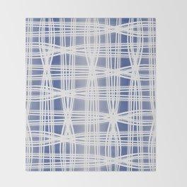 Indigo Pattern (Slim Look Leggings) No.1 Throw Blanket