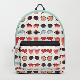 Sunglasses Collection – Red & Mint Palette Backpack