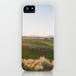 Hayden Valley Sunset - Yellowstone National Park Photography iPhone Case