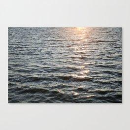 A Glint of Sun on Buffalo Lake Waves Canvas Print