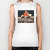 pyramid Biker Tanks featuring pyramid by pcart