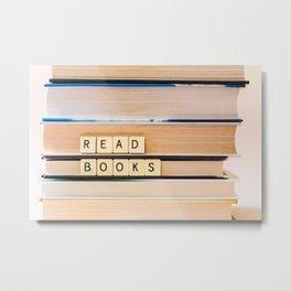 Read Books Metal Print