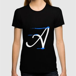 Dripping letter A T-shirt