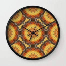 Rust-Art / mandala-style-rust Wall Clock