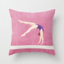 SUMMER GAMES / artistic gymnastics Throw Pillow