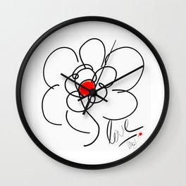 iLOVE FLOWER Wall Clock