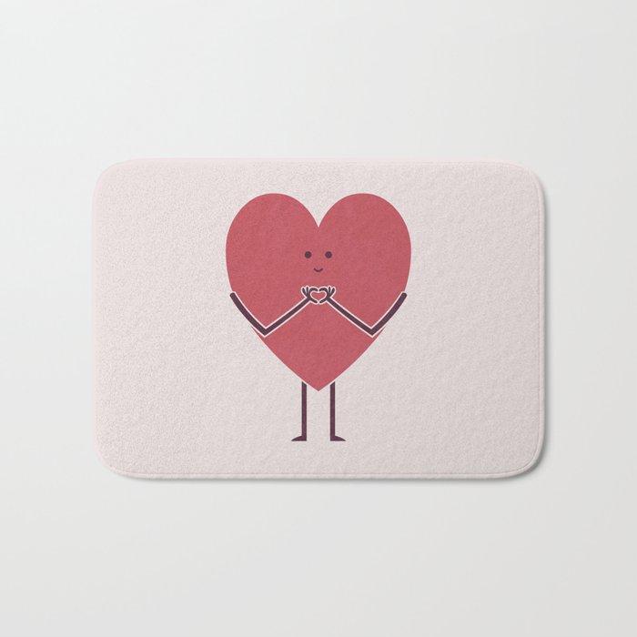 Heart Hands Bath Mat