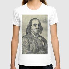 Benjamin Franklin Vintage Watercolor Art T-shirt