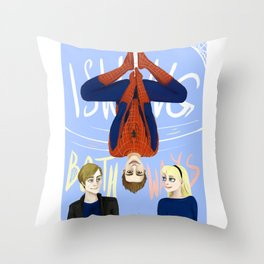 Swinging Both Ways Throw Pillow