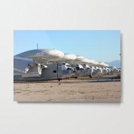 US Navy S-2 Trackers stored in AZ desert Metal Print