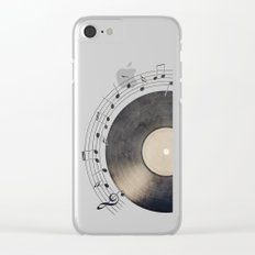 Vinyl Music Collection Clear iPhone Case