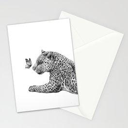 Leopard & Butterfly  Stationery Cards