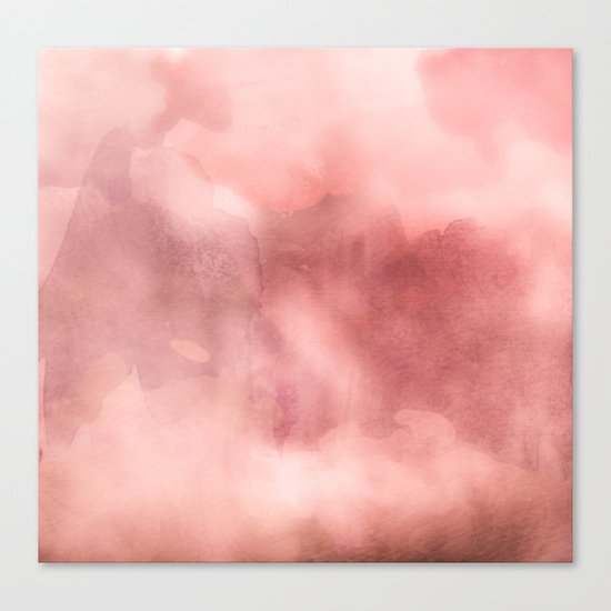 STORMY PINK WATERCOLOUR MARBLE STAIN Canvas Print