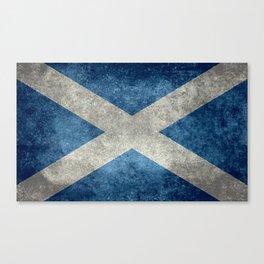 Scottish Flag - Vintage Retro Style Canvas Print