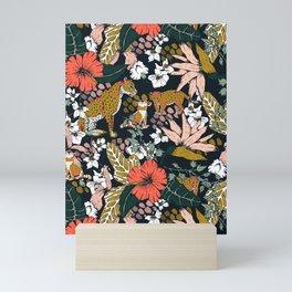 Animal print dark jungle Mini Art Print