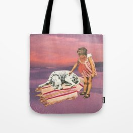 Napping Puppy Tote Bag