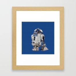 R2D2 Droid - Legobricks Framed Art Print