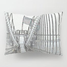 Brooklyn Bridge Cables Abstract Pillow Sham
