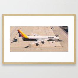 Stuck on the tarmac Framed Art Print