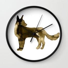 Shepherd Watercolor Wash Sepia Wall Clock