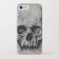 medieval iPhone & iPod Cases featuring Medieval Skull by Michael Creese