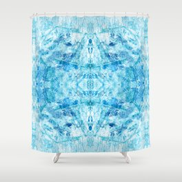 Crystal Stone - In Teal Aqua & Blue Shower Curtain
