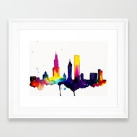 chicago map Framed Art Prints featuring Chicago  by Talula Christian
