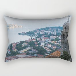 Over Kotor, Montenegro Rectangular Pillow