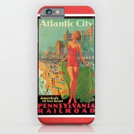 Atlantic city vintage bathing beauty iPhone Case