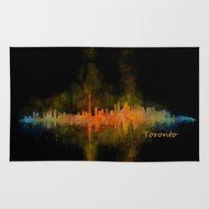 Toronto Canada City Skyline Hq v02 dark Rug