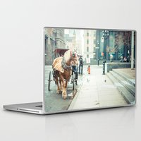 montreal Laptop & iPad Skins featuring Montreal Taxi by Andy Wright
