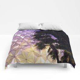 Epcot Globe at Night Comforters