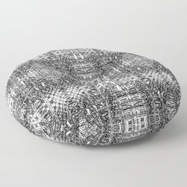 Ridiculously Intricate Digital Pattern Floor Pillow