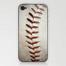 Vintage Baseball Stitching iPhone & iPod Skin