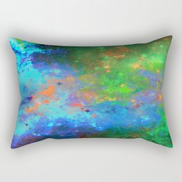 Speed Of Light - Abstract space painting Rectangular Pillow