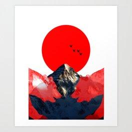 The Cali Bear Art Print