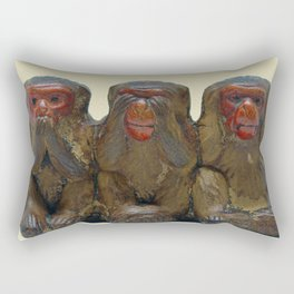 Three Wise Monkeys Rectangular Pillow