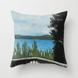 LOOKING OUT MY BACK DOOR Throw Pillow