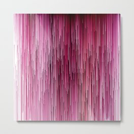 Planet Pixel Cotton Candy Pink Metal Print