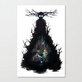 Dark days in  the woods Canvas Print