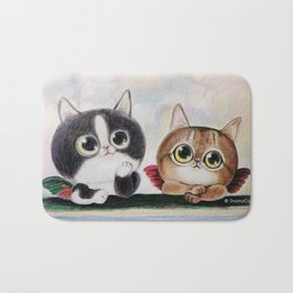 kitty angels Bath Mat