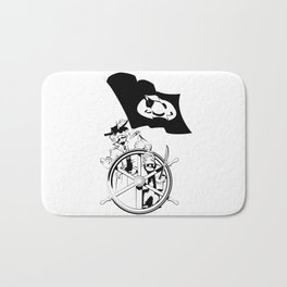 Cap'n at the helm Bath Mat