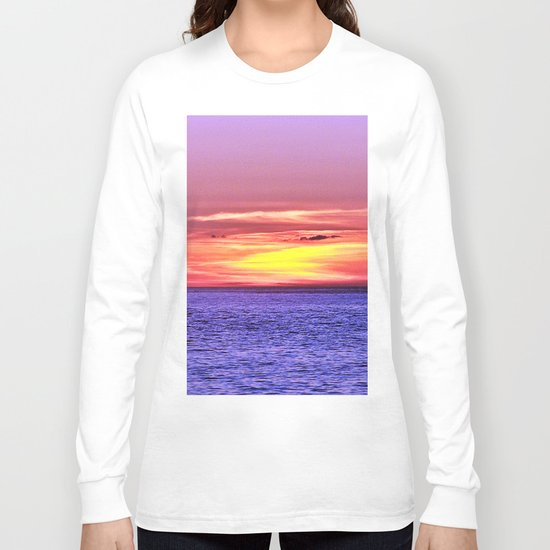Saturated Sunset Delight Long Sleeve T-shirt