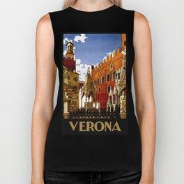Vintage Verona Italy Travel Biker Tank