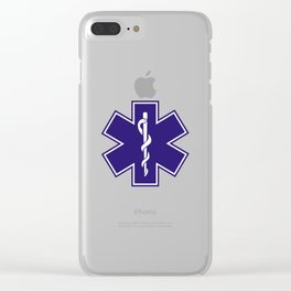 Ambulance Blue Star of Life Clear iPhone Case