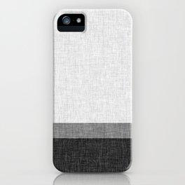 Black and White Graphic Burlap Pattern Stripe iPhone Case